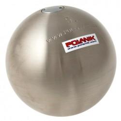 Tävlingskula i rostfritt stål 7,26 kg 115 mm