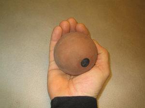 Kastboll 800 gr i gummi